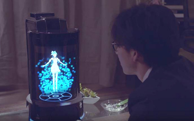An Anime Hologram Assistant That Lives In Your Room And