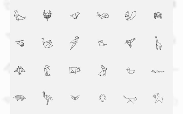 Cute And Simple These Origami Animal Icons Are Available For Free