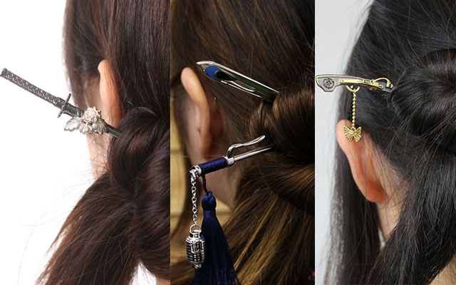 Traditional Japanese Hairpins Modeled After The Weapons Of