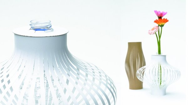Portable 3d Paper Vase Gives Beauty To Plants Everywhere You Go