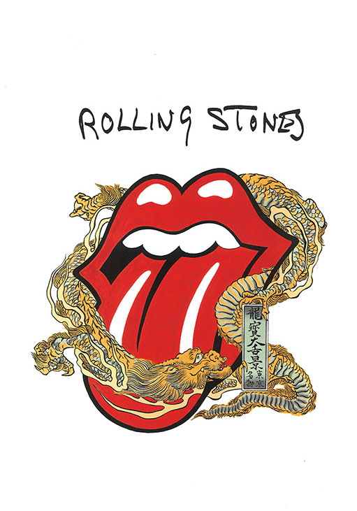 Rolling Stones Meets Traditional Japanese Art In Limited Edition