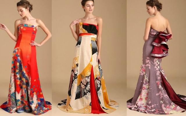 0838a529498 Japanese Wedding Company Is Renting Out Stunning Dresses Made From Vintage  Kimonos For Brides-To-Be