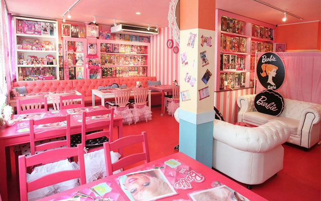 Have A Drink Inside Barbie's Dollhouse At Barbie-Themed Pink