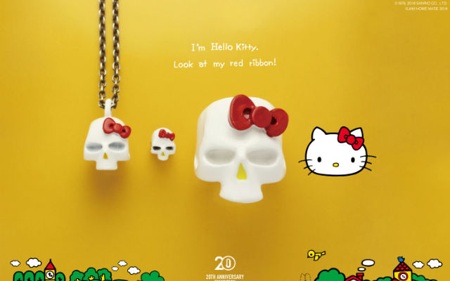 a19c5b09e Show Your Love For Hello Kitty By Wearing Her Skull As Your Jewelry ...
