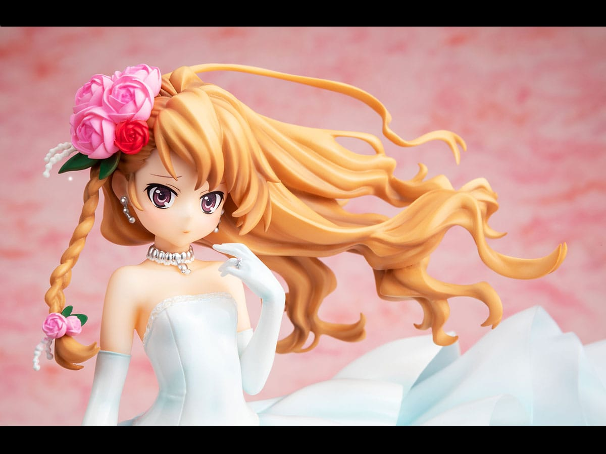 Attractive Taiga Aisaka Wedding Dress Ver Statue Marks Toradora S 15th Anniversary Grape Japan