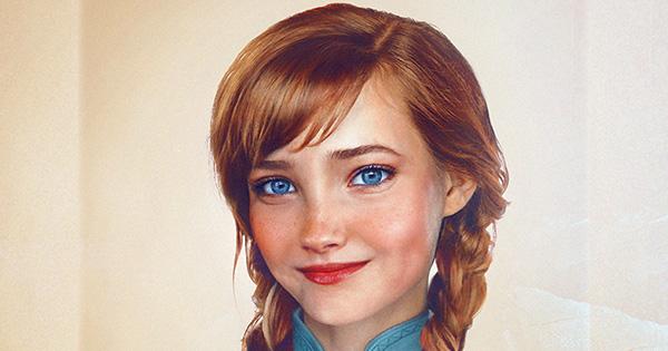 ディズニープリンセス達がリアルなイラストにこの女の子誰だかわかる