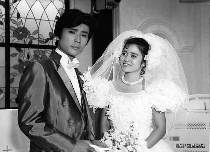 京本政樹、三田寛子 1988年