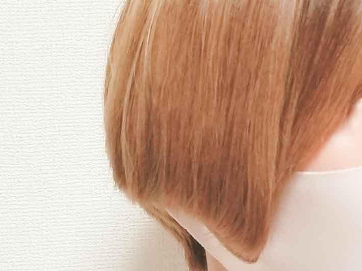 キャンドゥのヘアアイロンで髪をセット後