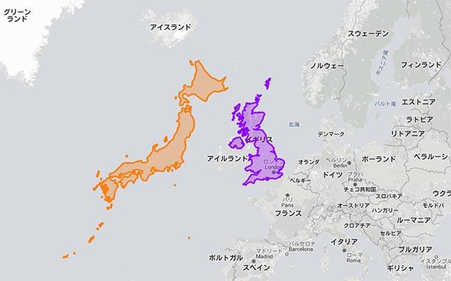 日本デケェ 世界地図で見るのと全然違う国の本当の大きさに驚く