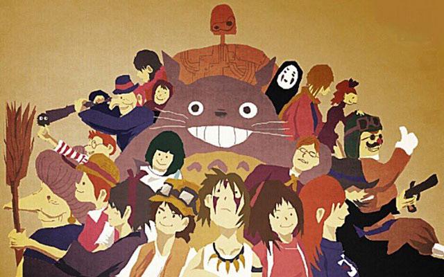 こんなアニメがあったら天国ジブリ人気キャラが集合したイラストが幸せ