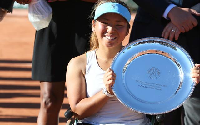 11歳から車いすテニスを始めた女性が大会2連覇!「ステップアップできてる」