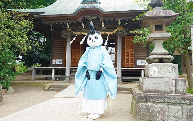 パンダ「宮司の代理です」 神社...