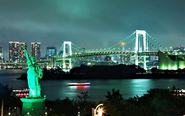 「レインボーブリッジ 緑に光る」の画像検索結果