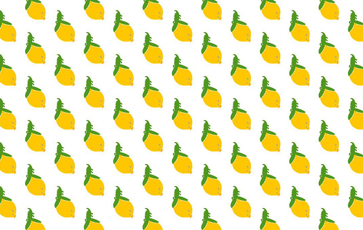 可愛いレモン柄だと思ったら 近...