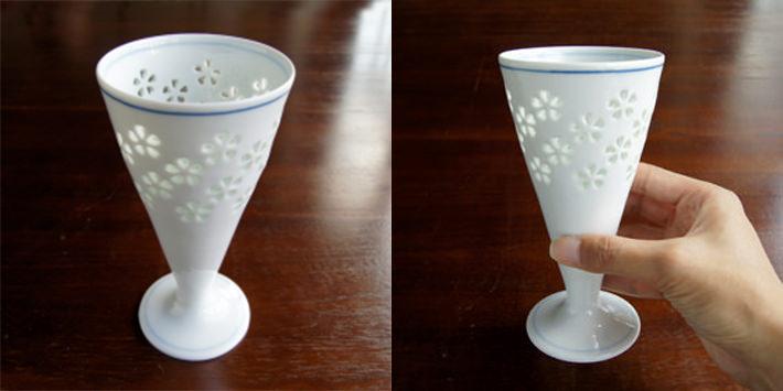 【波佐見焼】水晶花詰ビールグラス