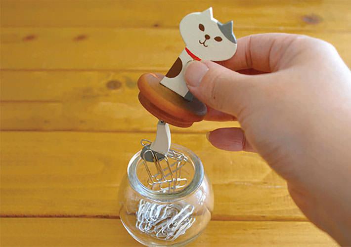 猫の木製クリップボトル
