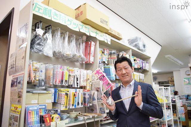 「菊屋」社長の浦上裕生(ひろお)さんのイチオシは「お玉」