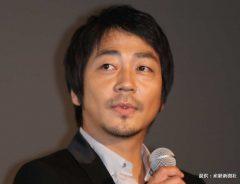 映画『アンフェア』の初日舞台挨拶に出席した大森南朋さん 2011年