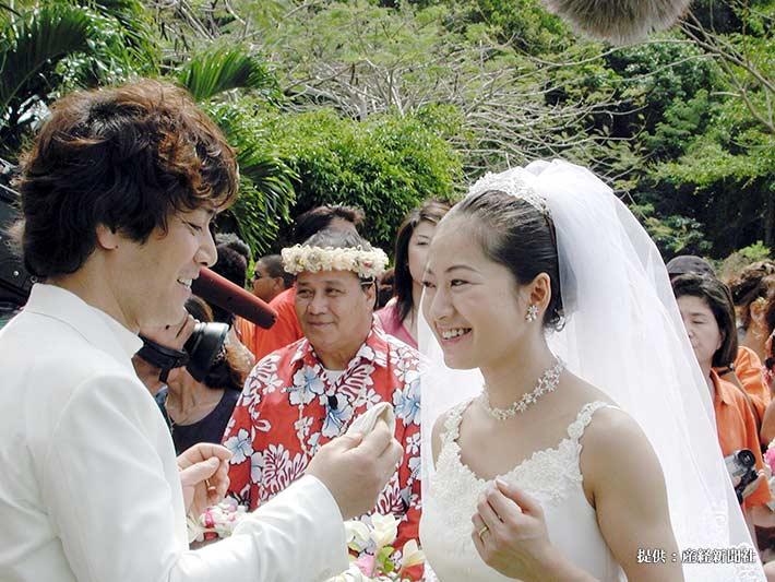 野口五郎、三井ゆり結婚式 2001年