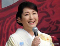 日中合作映画「空海-KU-KAI-」に白玲役で出演が決まり、製作報告会見に出席した女優の松坂慶子