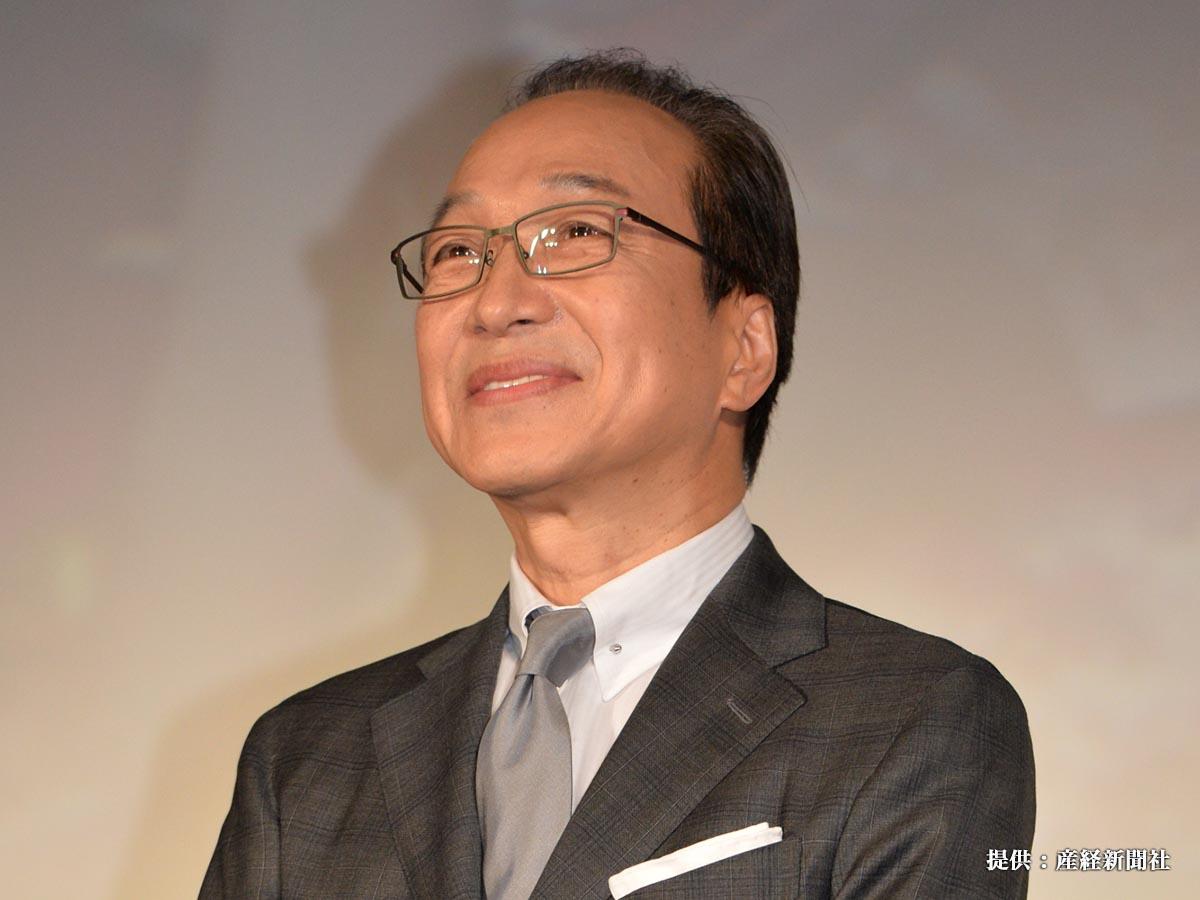 芸能 フジテレビドラマ「コンフィデンスマンJP」完成披露試写会 出席した小日向文世