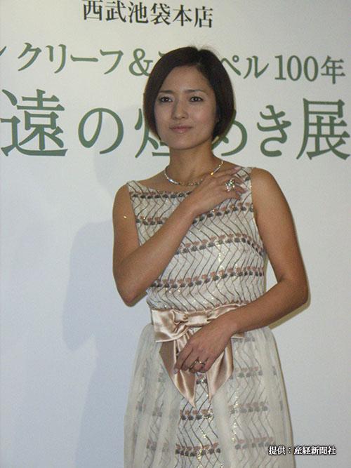 女優の三田寛子さん =2007年3月20日、東京都内