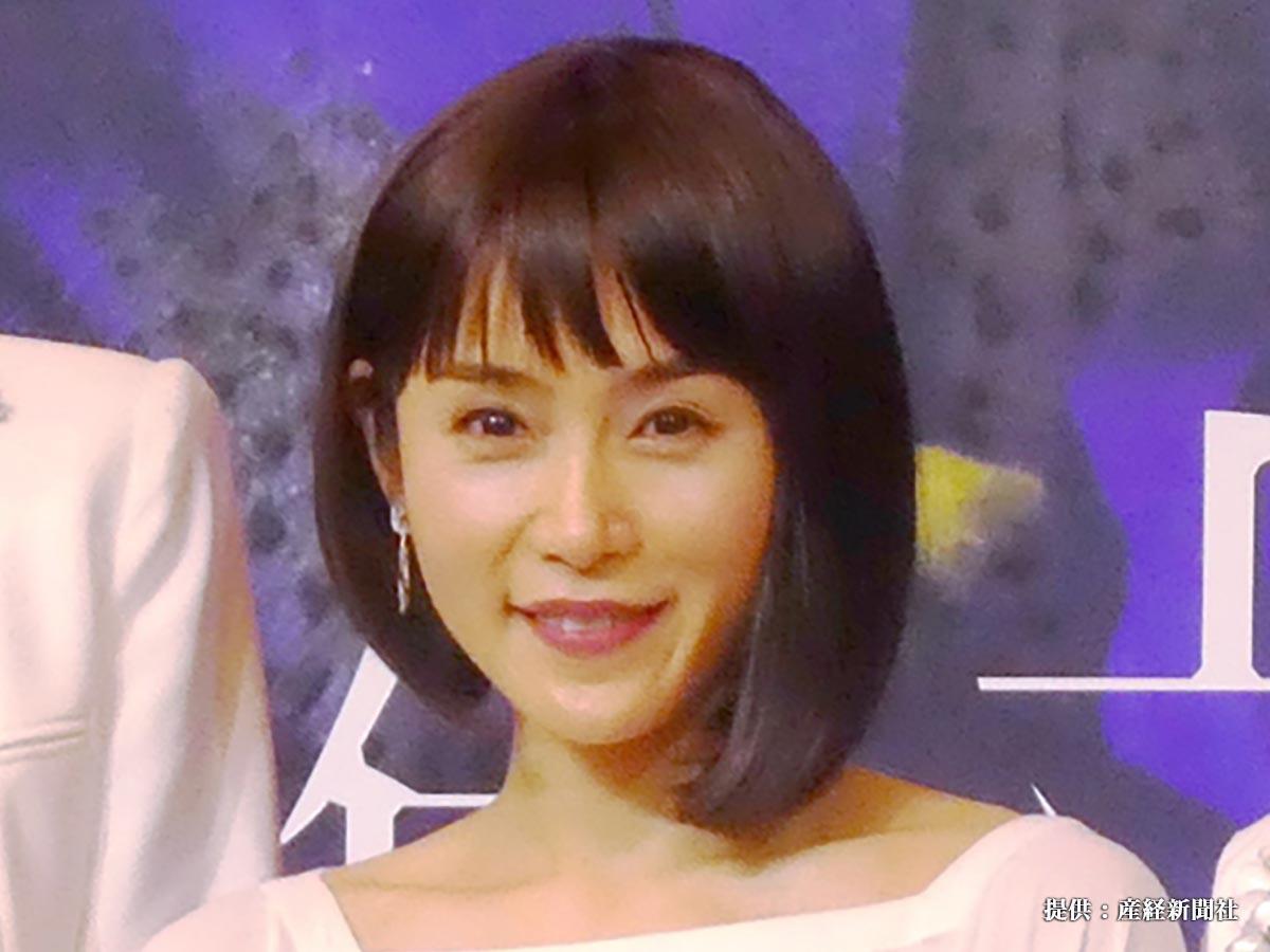 フジテレビ系ドラマ「絶対正義」の制作発表に出席した女優 山口紗弥加