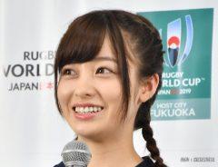 ラグビーW杯の福岡会場開催都市特別サポーターに委嘱された女優の橋本環奈さん