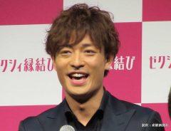 結婚情報アプリ『ゼクシィ縁結び』の発表会に出席した中村昌也 2014年