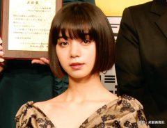「みんなが選ぶ!!電子コミック大賞2019」の授賞式に登場したモデルで女優の池田エライザ