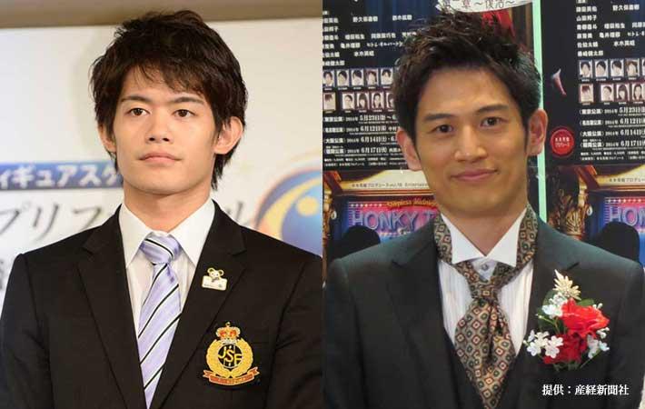 小塚崇彦(写真左)と野久保直樹(写真右)