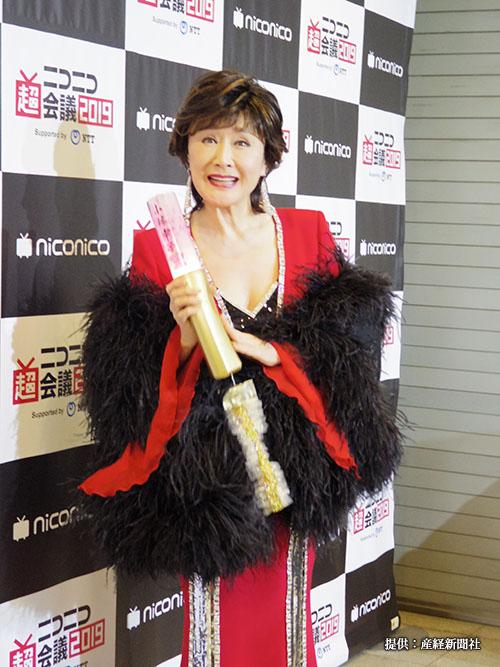 『ニコニコ超会議2019』のスペシャルショーケース『花KAGARI』に出演した小林幸子