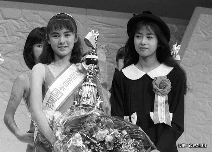 『第1回全日本国民的美少女コンテスト』でグランプリを受賞した藤谷美紀 1987年