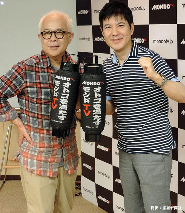 トーク番組「コサキンのラジオごっこ」の制作発表に出席した際の小堺一機さん(左)と関根勤さん(右)