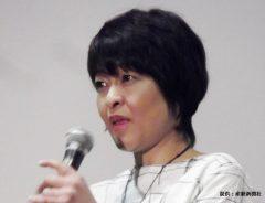 映画「ママ、ごはんまだ?」の初日舞台あいさつに登壇した際の河合美智子
