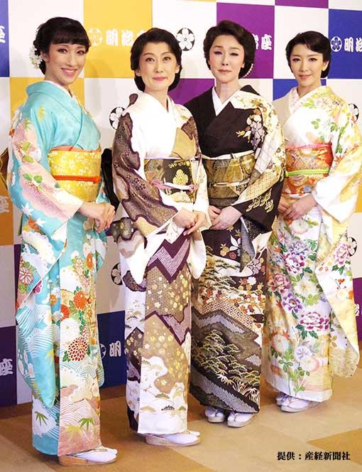 左から水夏希、一路真輝、浅野ゆう子、瀬奈じゅん 2019年