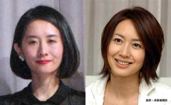 左から河井青葉 2015年 森口瑤子 2005年