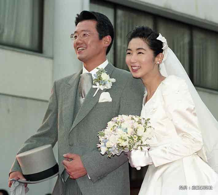 古田敦也と中井美穂 1995年