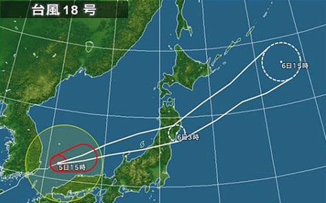 台風18号 速度をあげて北陸、東...