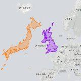 日本デケェ… 世界地図で見るのと全然違う『国の本当の大きさ』に驚く